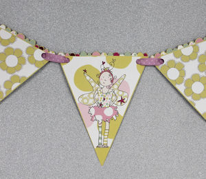 Bunting Fairy Princess Design - children's room