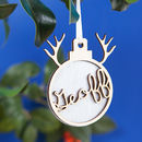 Personalised Luxury Reindeer Name Christmas Bauble