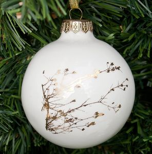 Christmas Decoration With Twig In Gold Or Platinum