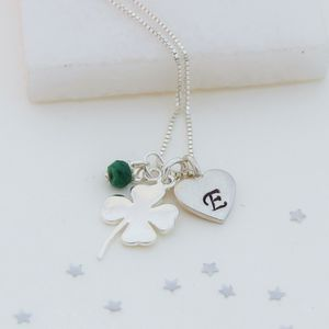 Personalised Good Luck Charm With Birthstones Necklace - children's accessories