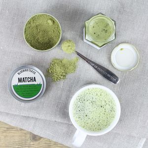Matcha Green Tea Superfood 100g Tin - teas, coffees & infusions