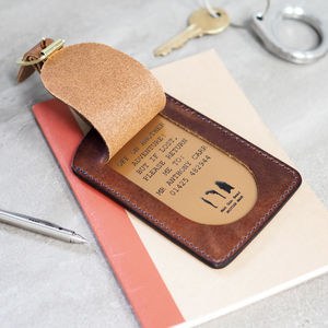 Personalised Leather Traditional Luggage Tag - gifts for him