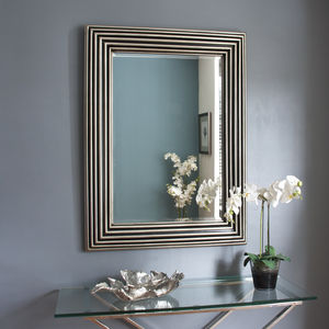 Rowena Silver Leaf And Black Mirror - mirrors