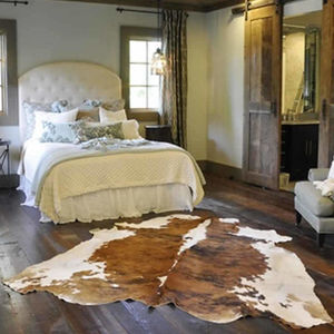 Luxury Cowhide Rug Hand Selected South America - dining room