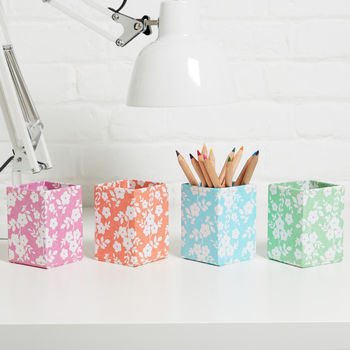 Recycled Daisy Print Pen Pot