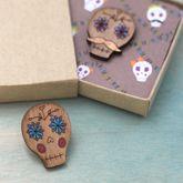 Sugar Skull Lapel Pin - halloween
