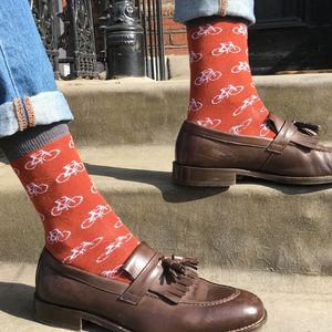Men's Bicycle Print Socks - new in fashion