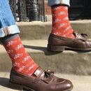Men's Socks Bicycle Print