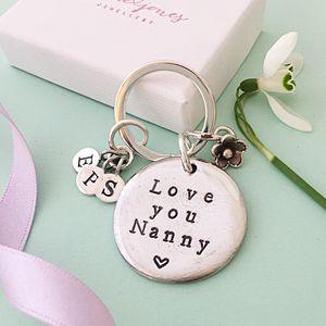Personalised Love You Nanny Keyring