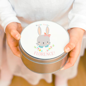 Personalised Easter Tin 'Sweet Flo' - tins, jars & bottles