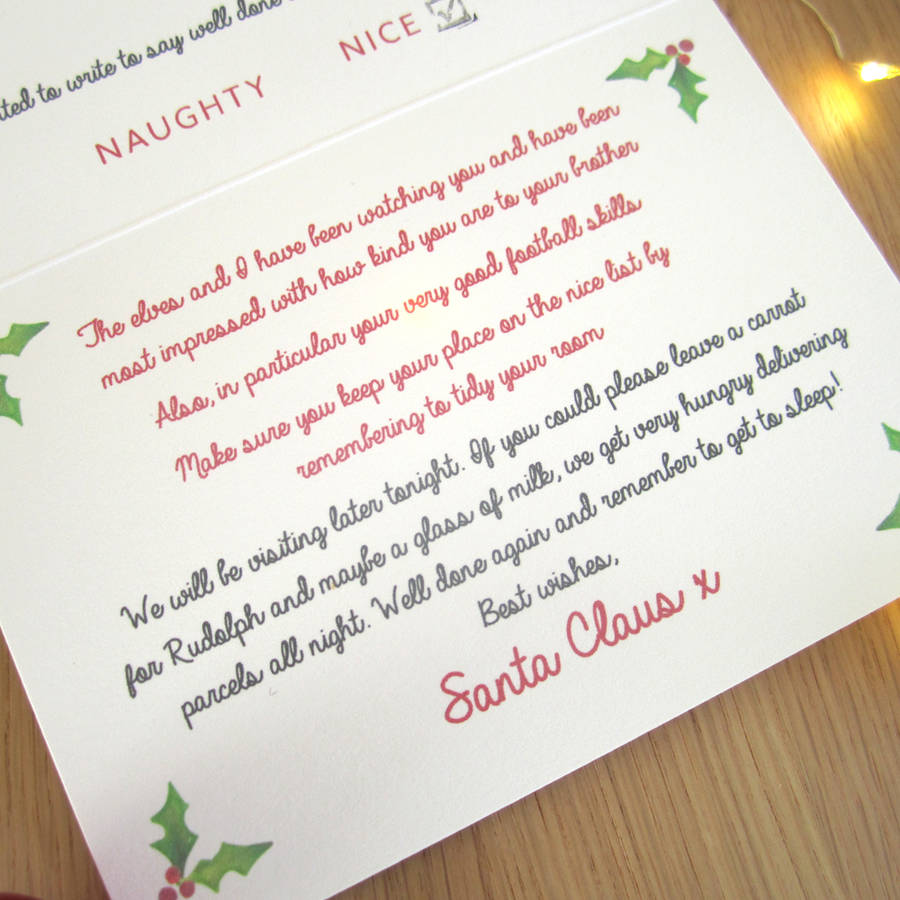 Personalised letter from santa and gift tag by lovat press personalised letter from santa and gift tag spiritdancerdesigns Gallery