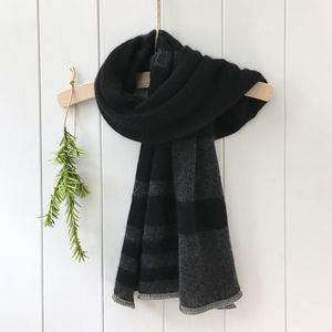 Pure Cashmere Striped Scarf For Men And Women - mens