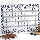 2019 Black Feathers Wall Calendar And Year Planner