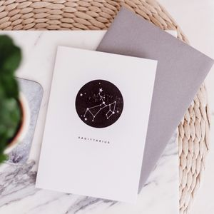Star Sign Letterpress Card - what's new