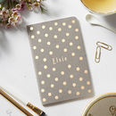 Luxury Dotty Personalised Notebook