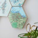 Custom Map Location Hexagon Collectible Wall Block Art