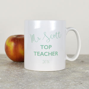 Personalised Top Teacher Mug - gifts for teachers