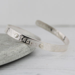 Boys Sterling Silver Christening Bangle - children's jewellery
