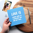 Wagging Tail And Wet Nose Love Card