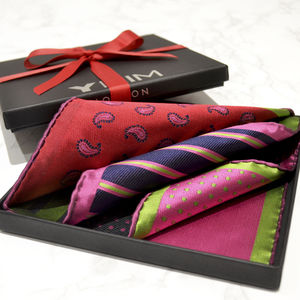 Mens Luxury Silk Versatile Pocket Square - mens