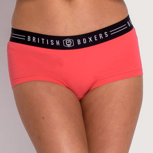 Women's Hipster Briefs Coral Pink - women's fashion