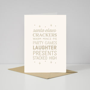 Contemporary Christmas Day Typography Card