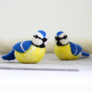 Blue Tits Needle Felting Craft Kit - craft-lover