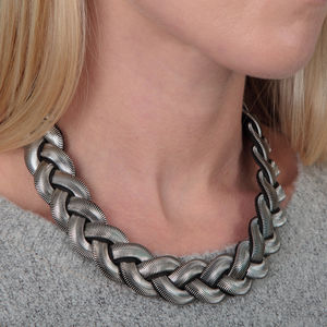 Braided Chain Collar Necklace