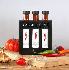 Hot Chilli Sauce Gift Condiment Box Set