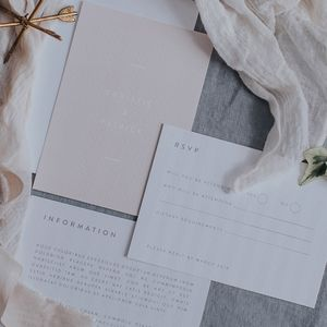 Sweet Tooth Modern Wedding Invitation Set - save the date cards