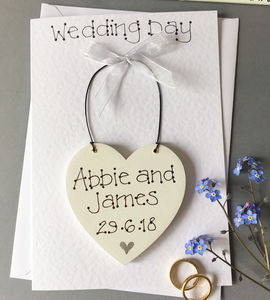 Keepsake Wedding Day Card - keepsake wedding cards