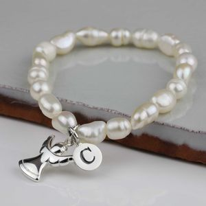 Personalised Children's Pearl And Angel Bracelet - bracelets
