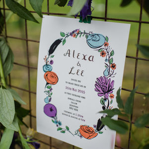 Flora And Fauna Wedding Day Invitations