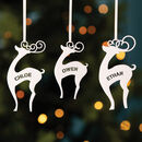 Personalised Reindeer Christmas Tree Decoration