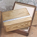 Light Wood Rustic Anniversary Box On Dark Wood Version