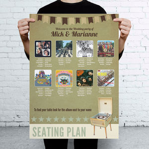 Music Themed Wedding Seating Table Plan - wedding stationery