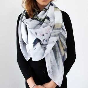 Helford River Silk Scarf - mother's day gifts