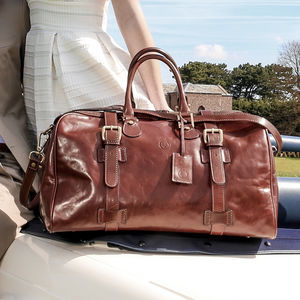 The Finest Italian Leather Holdall. 'The Flero M' - suitcases