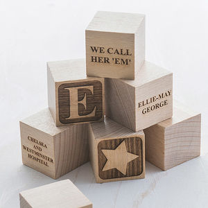 Personalised Baby Keepsake Building Block - baby's room