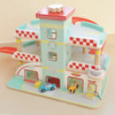 Retro Wooden Garage Traditional Toy
