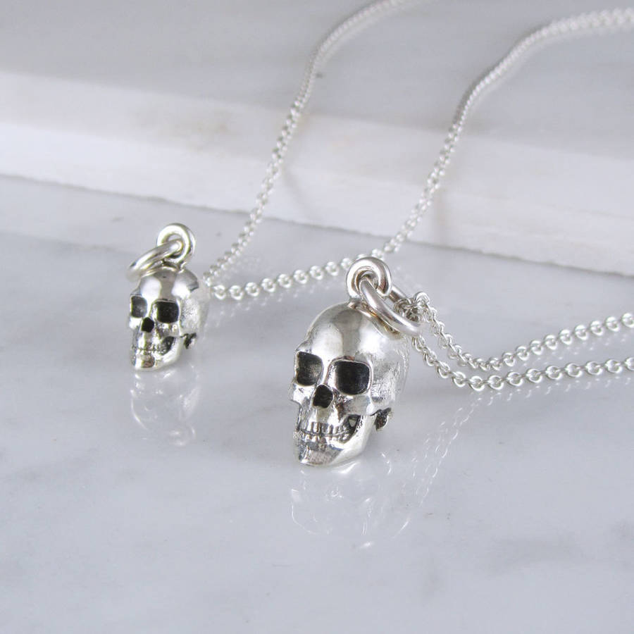 sugar necklace punk necklaces controse skull multi eyes heart silver womens goth by collections jewelry