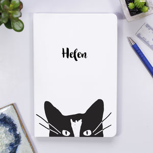 Personalised Cat Notebook - personalised