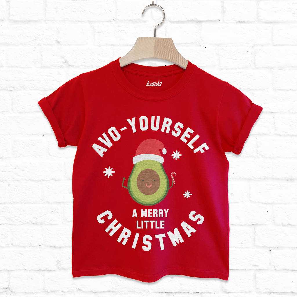 avo yourself a merry christmas kids\' avocado t shirt by batch1 ...