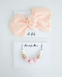 Pale Pink Mum And Baby Gift Set