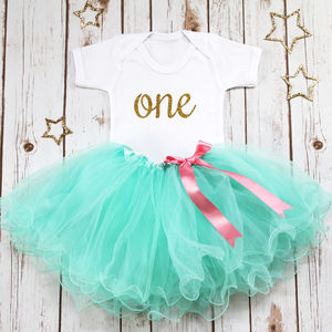 First Birthday Girls Tutu Set - clothing