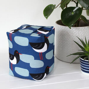 Oystercatcher Blue Fabric Doorstop