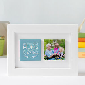 Personalised Framed Clay Photo Tile Gift For Grandma