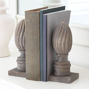 Finial Carved Bookends