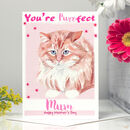 'You're Purrfect' Cat Mother's Day Card