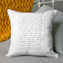 Personalised Christening Baby Wish Cushion